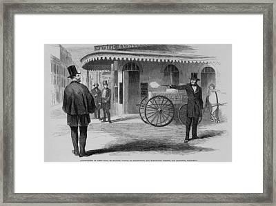 Assassination Of James King, Newspaper Framed Print by Everett