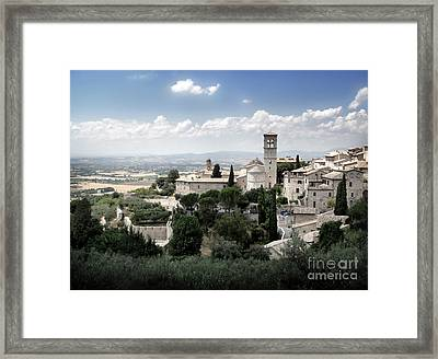 Assisi Italy - Bella Vista - 01 Framed Print by Gregory Dyer