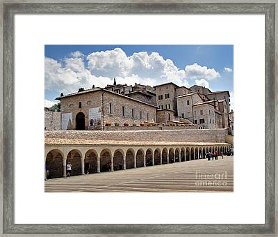 Assisi Italy Entrance Framed Print by Gregory Dyer