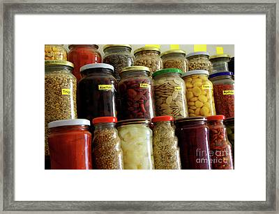 Assorted Spices Framed Print by Carlos Caetano