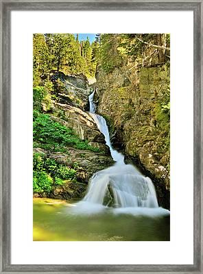 Aster Falls Framed Print by Greg Norrell