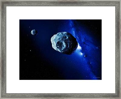 Asteroids Framed Print by Detlev Van Ravenswaay