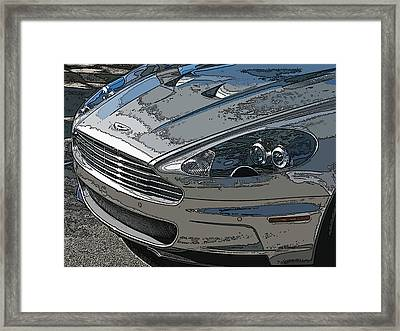Aston Martin Db S Coupe Nose Detail Framed Print by Samuel Sheats