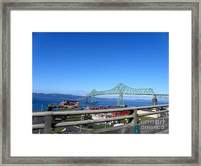 Astoria Bridge Framed Print by Tanya  Searcy