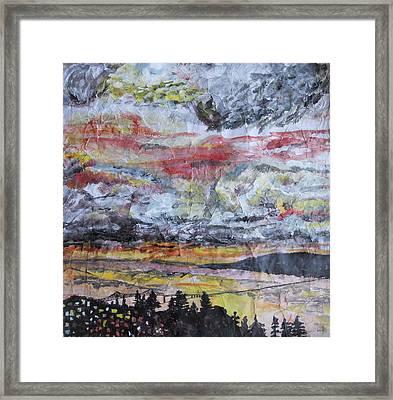 Astoria Megler Bridge Sunset Framed Print by Rachel Biddlecome