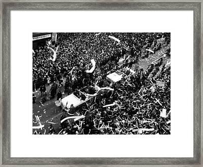 Astronaut John Glenn, Receiving Framed Print by Everett