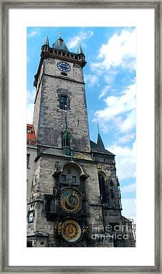 Astronomical Clock In Prague Framed Print by Pravine Chester