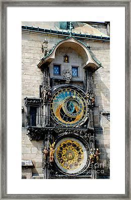 Astronomical Clock Framed Print by Pravine Chester