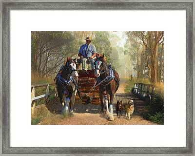 At Durdidwarrah Crossing Framed Print by Trudi Simmonds