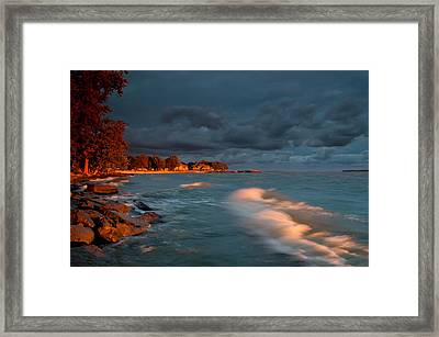 At Sun's First Break Framed Print by At Lands End Photography