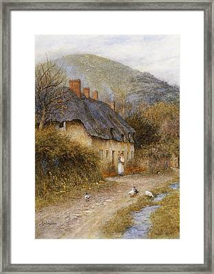 At Symondsbury Near Bridport Dorset Framed Print by Helen Allingham