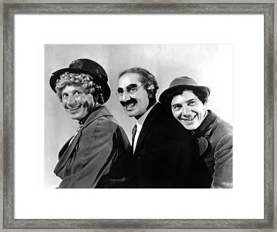 At The Circus, From Left Harpo Marx Framed Print by Everett
