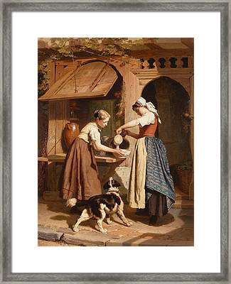 At The Dairy Framed Print by Theodore Gerard