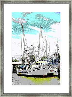 At The Dock Framed Print by Barry Jones
