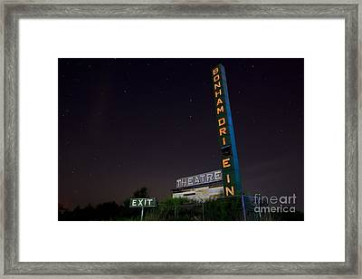 At The Drive In Movie Theater  Framed Print by Keith Kapple