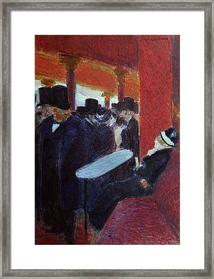 At The Folies Bergeres Framed Print by Jean Louis Forain