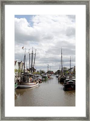 At The Old Harbor Framed Print by Steve K