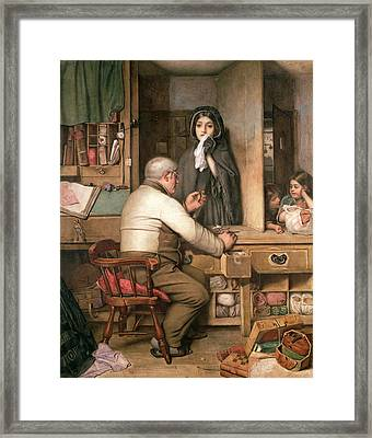 At The Pawnbroker Framed Print by Thomas Reynolds Lamont