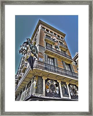 At The Plaza De La Boqueria ... Framed Print by Juergen Weiss