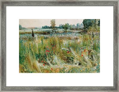 At The Water's Edge Framed Print by John William Buxton Knight