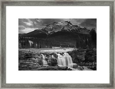 Athabasca Falls Jasper National Park  Framed Print by Keith Kapple