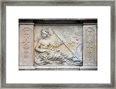Athena Relief In Gdansk Framed Print by Artur Bogacki