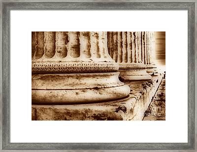 Athens - Acropolis Framed Print by Hristo Hristov