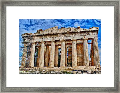 Athens - Parthenon Framed Print by Hristo Hristov