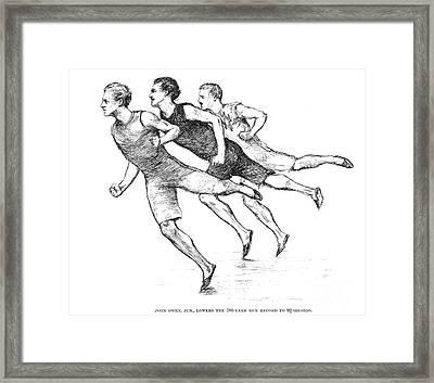 Athletics: Track, 1890 Framed Print by Granger