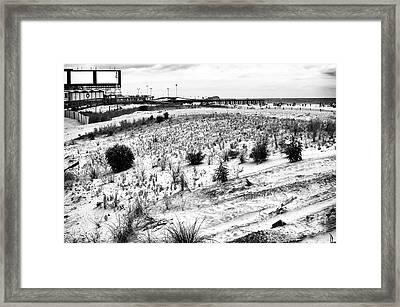 Atlantic City Dunes Framed Print by John Rizzuto