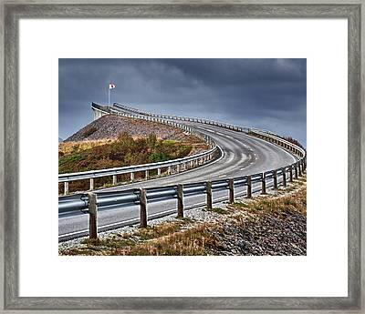 Atlantic Road Framed Print by A A