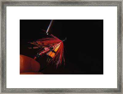 Atlantic Salmon Fly Tieing Framed Print by Nick Norman