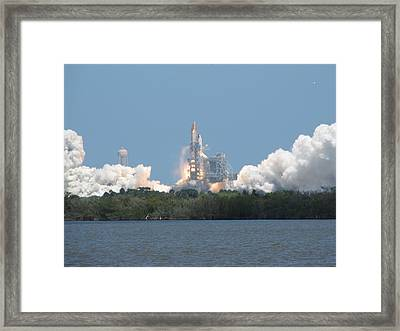 Atlantis Lift Off Framed Print by Keith Stokes