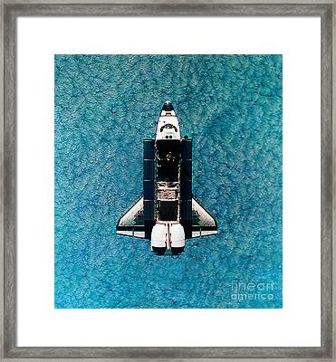 Atlantis Space Shuttle Framed Print by Science Source