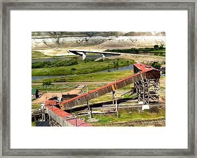 Atlas Coal Mine A Framed Print by Jonathan Lagace