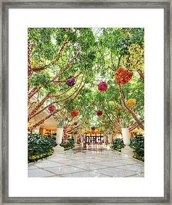 Atrium At The Wynn 2 Framed Print by Jessica Velasco
