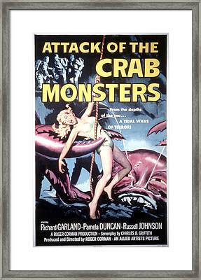Attack Of The Crab Monsters, Poster Framed Print by Everett