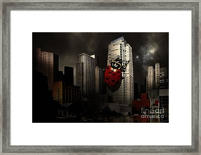 Attack Of The Giant Killer Ladybug Of San Francisco . 7d4262 Framed Print by Wingsdomain Art and Photography