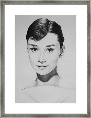 Audrey Hepburn Framed Print by Steve Hunter