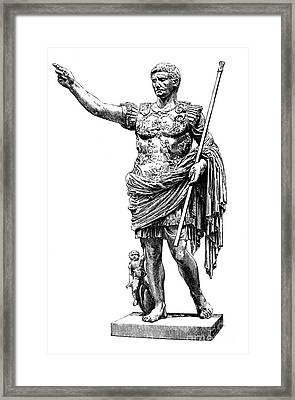 Augustus (63 B.c.-14 A.d.) Framed Print by Granger