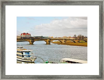 Augustus Bridge Dresden Germany Framed Print by Christine Till
