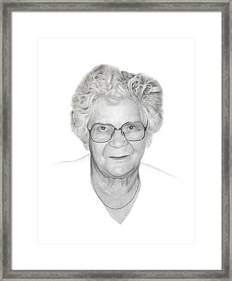Aunt Flora Framed Print by Conrad Mieschke