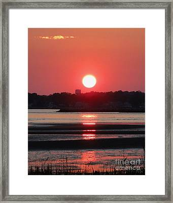 Aura Of A Sunset Framed Print by Meandering Photography