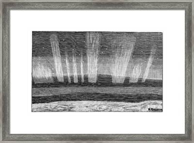 Aurora Borealis, 19th Century Framed Print by