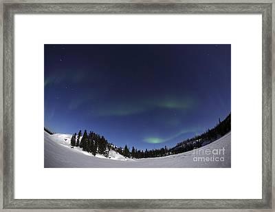 Aurora Over Vee Lake, Yellowknife Framed Print by Yuichi Takasaka