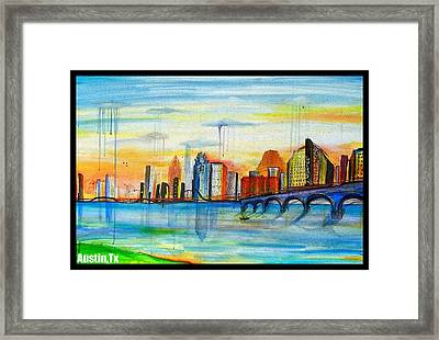 Austin Texas Framed Print by Jose J Montee Montejano
