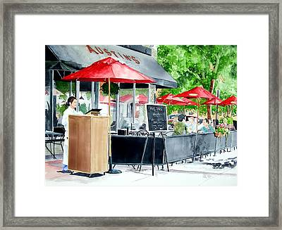 Austin's Framed Print by Tom Riggs