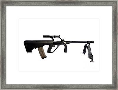 Austrian 5.56mm Steyr Aug Light Support Framed Print by Andrew Chittock
