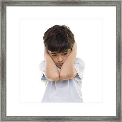 Autistic Boy Framed Print by