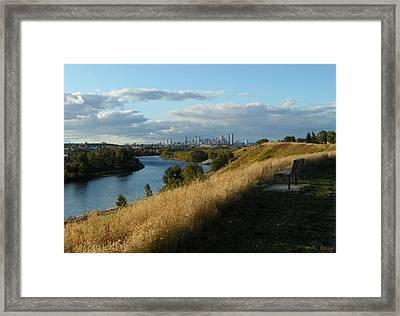 Autumn Calgary Framed Print by Mark Lehar